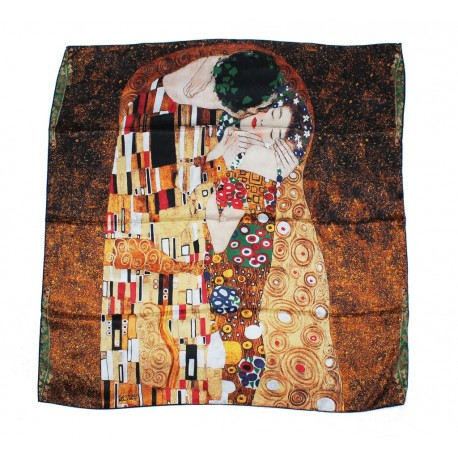 beau foulard original offrir en soie illustration klimt le baiser. Black Bedroom Furniture Sets. Home Design Ideas