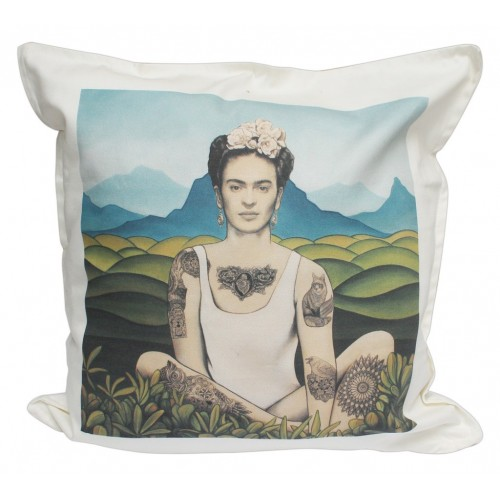 cushion limited edition frida kahlo by the artist no roussel. Black Bedroom Furniture Sets. Home Design Ideas