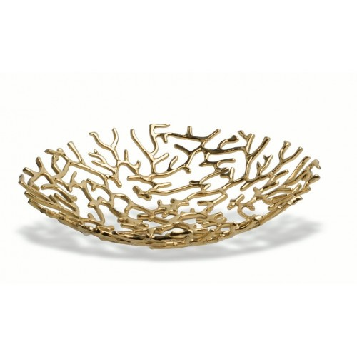 Corbeille de table Harvest design couleur doré par Mukul GOYAL