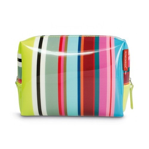 Trousse de toilette design motif colour stripes large