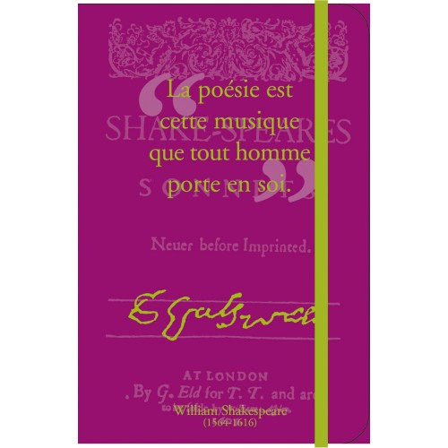 Petit carnet de notes Entre Guillemets avec citation de Shakespeare