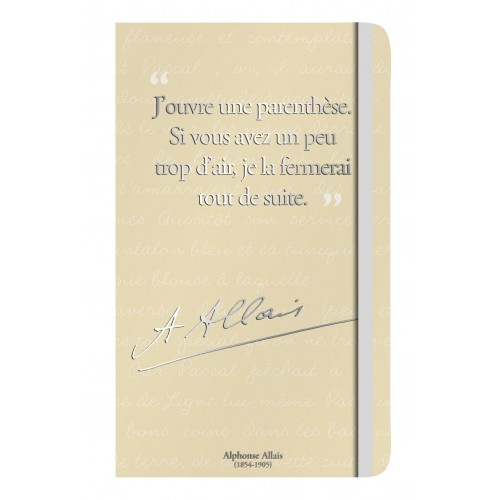 Carnet de notes avec citation de Allais