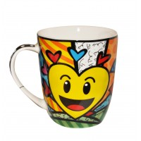 Mug smile flowers by Britto