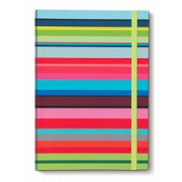 Carnet de note A5 original coloré design motif stripes