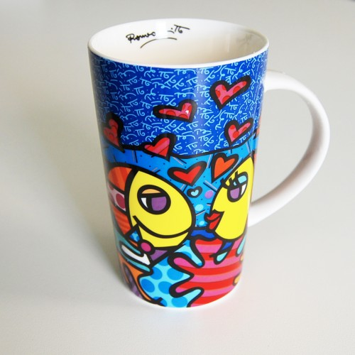 Mug original poisson de Romero Britto