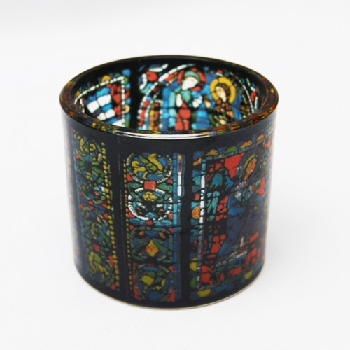Tealight candle holder Chartres, stained