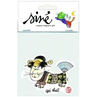 Magnet Siné with funny and caricatural cat