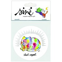 Collector magnet by Sine with funny and caricatural cat