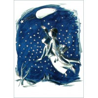 "Picture poster of french romantic artist Peynet ""Hunting stars"""