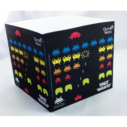 Bloc note design space invaders