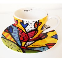 Coffee collector cups heart New Day by Romero Britto