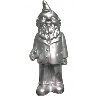 silver welcome gnome