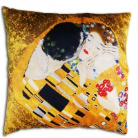 Silk cushion the Kiss of Klimt