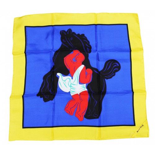silk square scarf by the french artist dufy