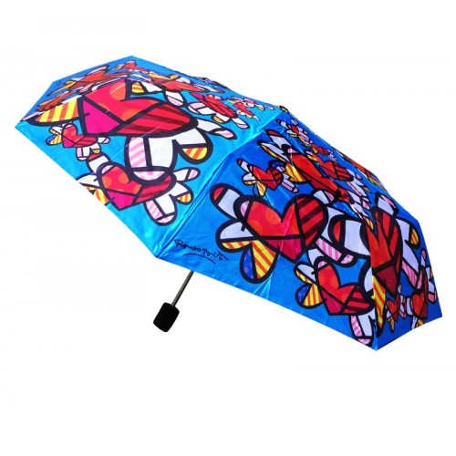 Foldable umbrella hearts by the Brazilian artist Romero Britto