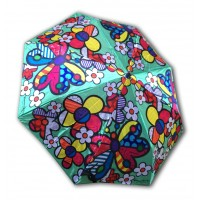Foldable umbrella butterfly and flower by the Brazilian artist Romero Britto