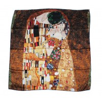 Silk scarf collection with The Kiss by Klimt
