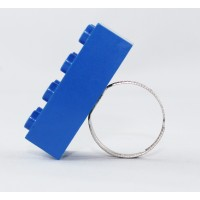 Blue Lego ring by the french creator Sno0oze