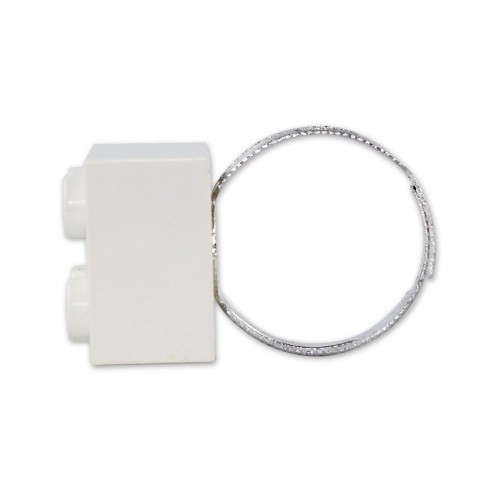 White Lego ring by the french creator Sno0oze