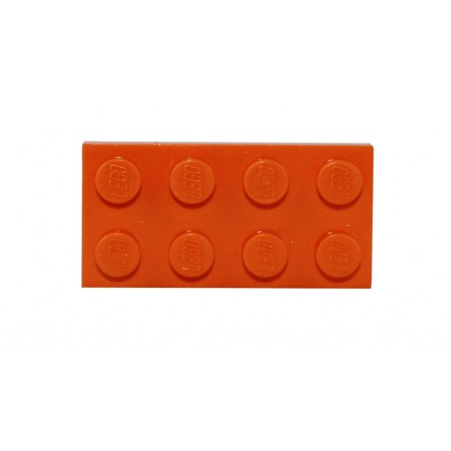 Broche originale Lego par la créatrice Sno0oze orange