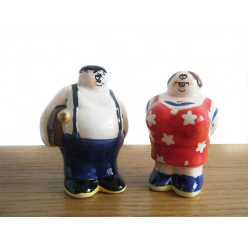 Salt and pepper couple collection by the french artist Alain Willette