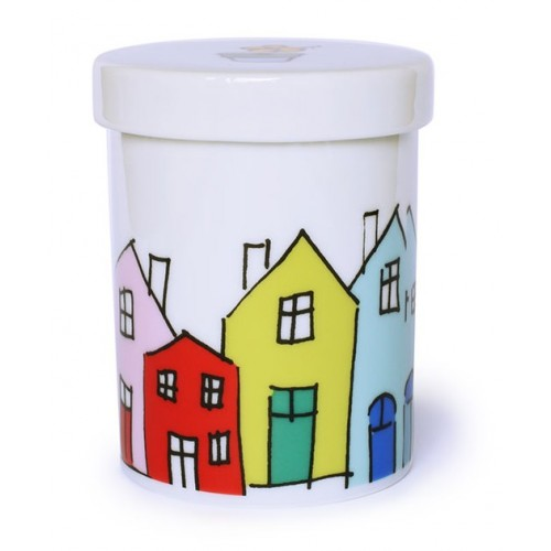 Pot en porcelaine motif Little Village
