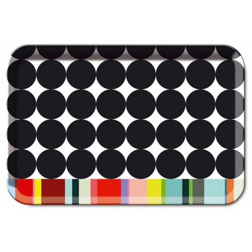 Plateau original et coloré motif Scoop grand format