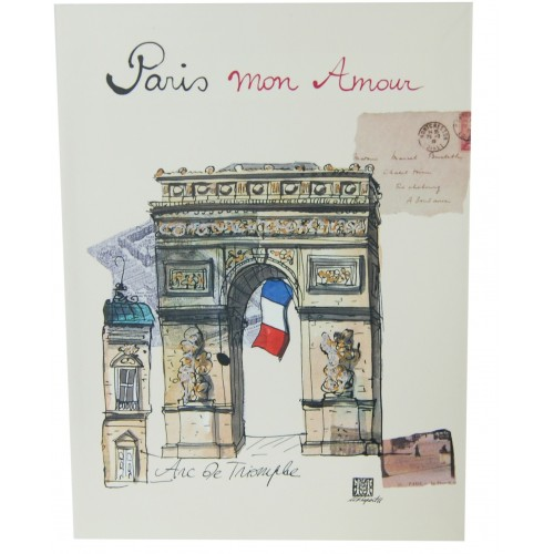 notebook theme Paris Martine Rupert French souvenir