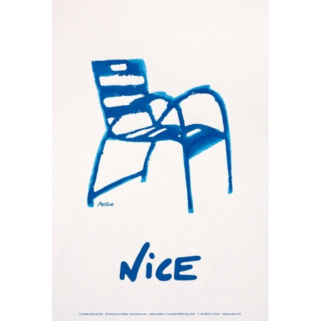 picture poster of the blue chair nice city. Black Bedroom Furniture Sets. Home Design Ideas
