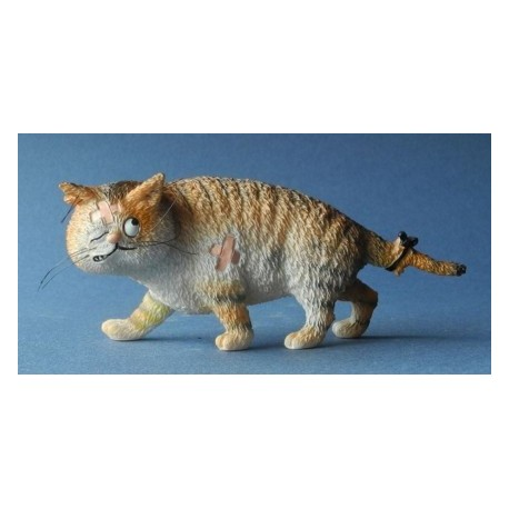 Fun sculpture of big cat by the french illustrator Dubout
