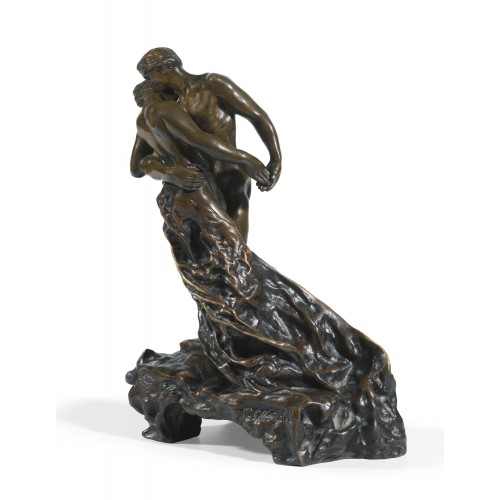 Sculpture the waltz by the french artist Camille Claudel