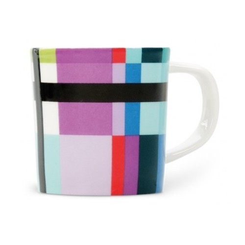 Cup espresso colored Zigzag pattern