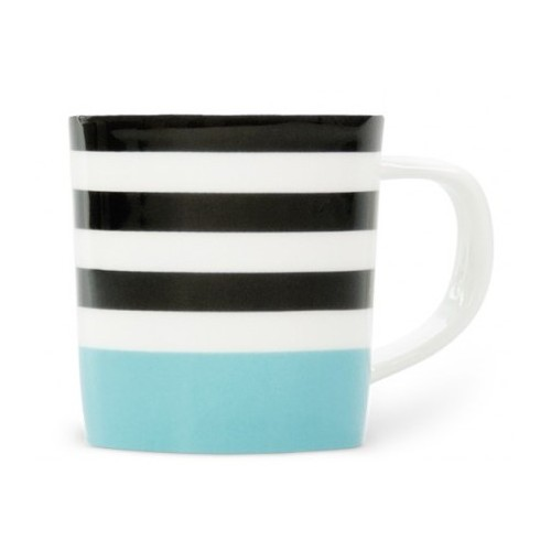 Cup espresso colored Black Lines pattern