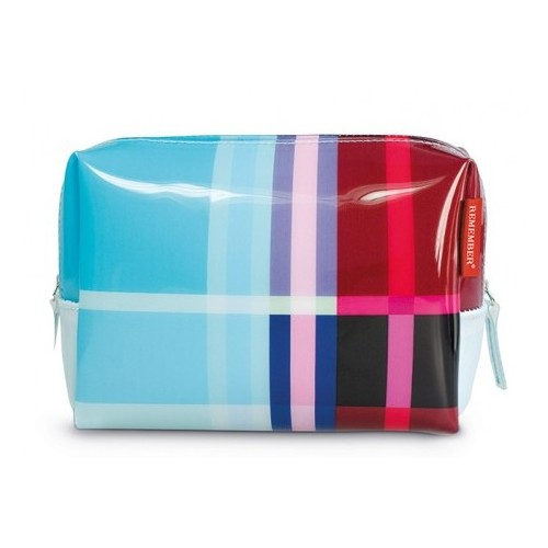 Trousse de toilette design motif zigzag large