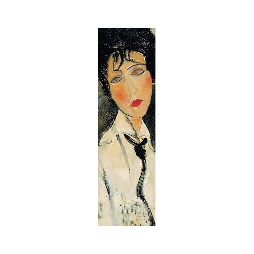 Bookmark Modigliani gift giving collector Woman in black tie