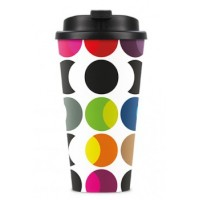 Mug thermos original et coloré dots
