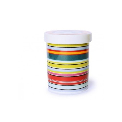 Pot en porcelaine motif stripes