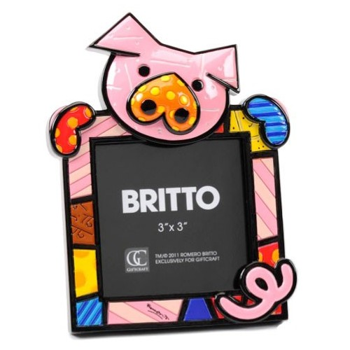 Photo Frame Pig of Brazilian artist Romero BRITTO