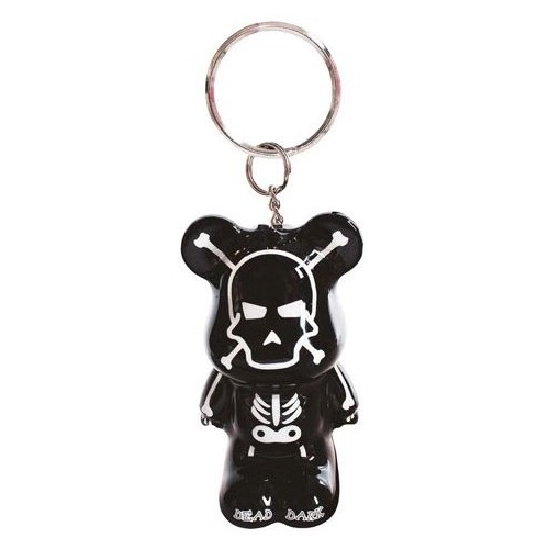 Carry keys Funky Bear Phosphorescant skeleton