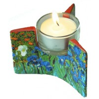 Tealight candle holder Irises by Van Gogh