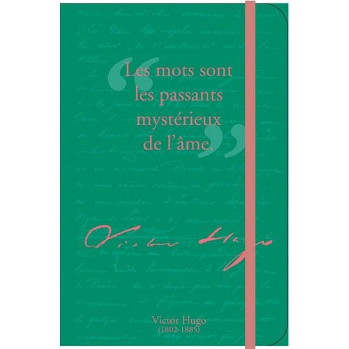 Petit carnet de notes avec citation de Victor Hugo
