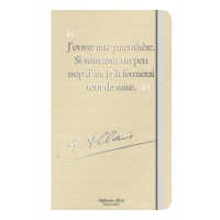 Notebook with a quote of Allais