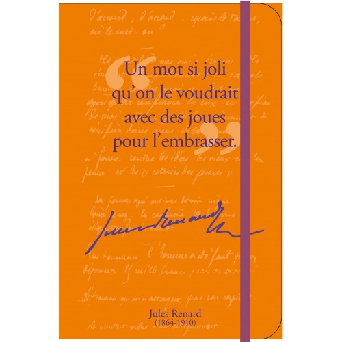 Petit carnet de notes avec citation de Jules Renard