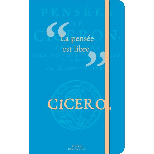 Small notebook with a quote of Ciceron