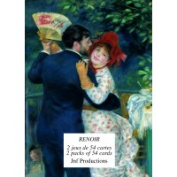 Familly card game illustred by Renoir's artwork