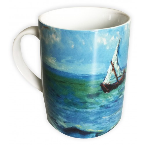 Collector mug Landscape of Saintes-Maries-de-la-Mer by the famous artist Van Gogh