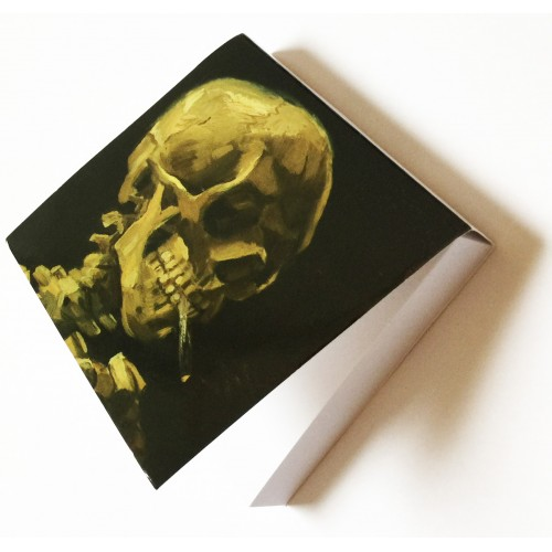 Memo pad with Skull by artist Van Gogh