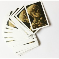 Playing cards Skull by Van Gogh