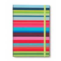Carnet de note A4 original coloré design motif stripes