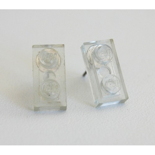 Lego earings transparent